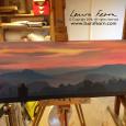Pink sunset, Weston, Bath